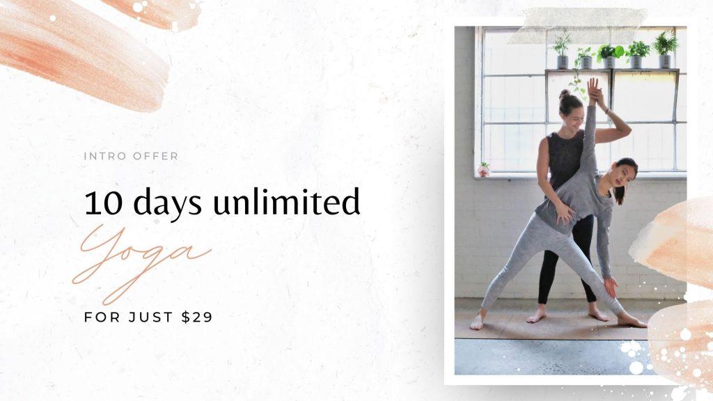 yoga intro offer